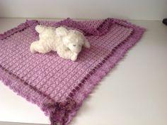Crochet Baby Blanket, lavender II, small by Mywaycrochet on Etsy