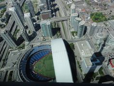 View from the CN Tower - see the shadow. Need a good head for heights