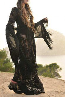 Black See-Through Lace Long Sleeve Dress - I like this. Do you think I should buy it?