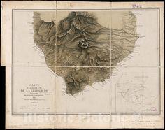 Carte de la portion S.O de l'ile de la Guadeloupe : levee en 1842