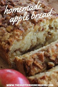 Apple Cinnamon Bread One of the most popular recipes out there-this amazing cinnamon apple bread recipe is the perfect fall dessert! (And makes your house smell amazing! Easy Bread Recipes, Cinnamon Recipes, Apple Baking Recipes, Apple Cinnamon Bread Machine Recipe, Apple Recipes Easy, Breakfast Bread Recipes, Apple Bread Recipe Healthy, Cinnamon Rolls, Apple Cinnamon Loaf