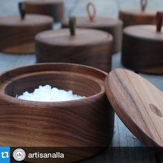 Thanks for the love, @artisanalla! Looking forward to being part of the spring show! #shopsmall #design #interior #instahome #style #home #wood #handmade #cook #kitchen #salt #supporthandmade #Repost with @repostapp. ・・・ Walnut salt pots handmade by @amandamcaulaydesign. Swoon City. #artisanalla #springshow #madeinla #saltcellar #handcrafted #woodworking #badasswomen