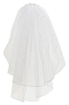 Lauren Marie First Communion Veil White Headband, Headband Hair, First Communion Veils, Hair Beads, Floral Headbands, Nordstrom, Ballet Skirt, Hair Accessories, Floral Hair