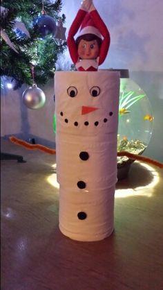 Polly built a snowman!