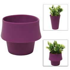 Amazon.com: Decorative Modern Style Purple Flexible Folding Silicone Plant Flower Planter Display Pot - MyGift®: Patio, Lawn & Garden