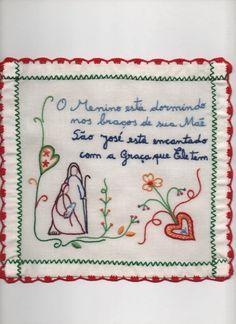 Versão Natal de Lenço dos Namorados Needlepoint, Nativity, Knit Crochet, Bullet Journal, Textiles, Embroidery, Knitting, Sewing, Crafts