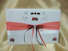 Case IH  Inspired Wedding Guest Book on Etsy, $34.95