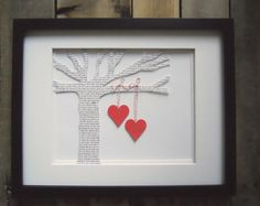 the tree has the lyrics of your first dance song to commemorate the special day.