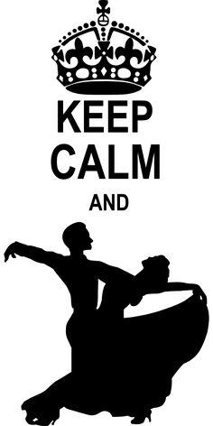 personnaliser tee shirt Keep Calm and Ballroom Dance