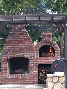 Wood-Fired Outdoor Brick Pizza Oven by the Bleckledge Family