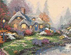 Thomas Kinkade cross stitch