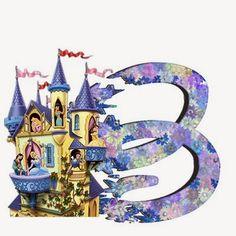 Alfabeto de Princesas Disney. Disney Alphabet, Cute Alphabet, Alfabeto Disney, Disney Princess Party, All You Need Is, Template, Symbols, Minne, Disney Princesses