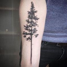 Image result for pine tree geometric tattoo