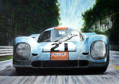 """Jiří #Rameš """"Le Mans 24h 1970"""" Edition auf Leinwand ab 70 x 50 cm ab  149,00 € http://www.artfan.de/rames-jiri-porsche-917-le-mans-1971-race-automobile-kunst-online-kaufen.html"""