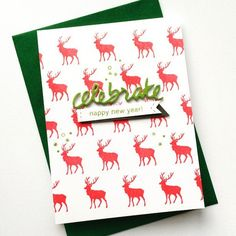 Deer Christmas card inspiration Christmas Deer, Christmas Cards, Cardmaking, Projects To Try, Paper Crafts, Ink, Celebrations, Scrap, Handmade