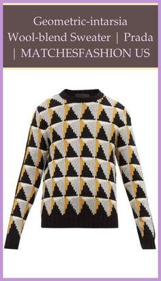 Geometric-intarsia wool-blend sweater | Prada | MATCHESFASHION US | Finished Intarsia For Sale |  Intarsia Wood | Intarsia Wood Definition | Intarsia Knitting | Intarsia Angels. #ayna #Prada Woodworking Furniture Plans, Woodworking Shop, Intarsia Wood Patterns, Inside Shop, Intarsia Knitting, Wood For Sale, Intarsia Woodworking, Wood Crafts, Wool Blend