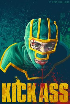 'Kick-Ass comes out August In honor of the sequel, we rounded up 14 alternative movie posters for the original 'Kick-Ass' cult hit. Cinema Movies, Cult Movies, Comic Movies, Scary Movies, Comic Book Characters, Comic Books, Adventure Movies, Nicolas Cage, Alternative Movie Posters