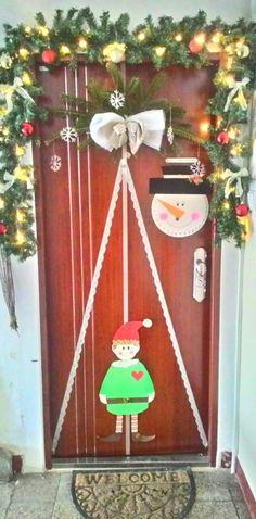 Christmas door decorations, vianočná vyzdoba na dvere