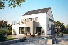 Architekten-Haus Varano | Modernes Fertighaus mit Studio Dream House Plans, How To Plan, Architecture, House Styles, Design, Home Decor, Studio, Diy, Arquitetura