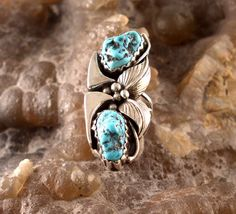 Sterling Silver and Turquoise Ring available at Renaissance Jewelers! $100.00