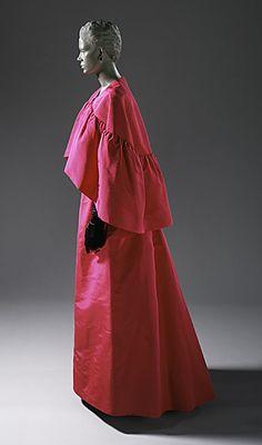 Cristóbal Balenciaga (Spain, 1895 - 1972)   Woman's Evening Gown and Cape, 1963