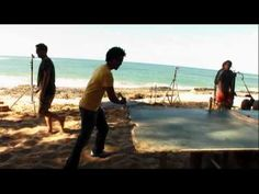 The cast of Lost plays sand pong :)  Everybody plays!  www.concretetabletennis.com