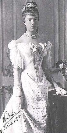 Marie Valerie van Oostenrijk in 1890, dochter van Sisi en Franz Jozef - Wikipedia