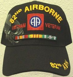 82ND AIRBORNE ABN DIVISION PARACHUTE AIR ASSAULT CORPS VIETNAM VETERAN CAP HAT #HIGHPREMIUMHATS #BaseballCap Army Hat, Us Army, Vietnam Veterans, Vietnam War, 82nd Airborne Division, Embroidered Caps, Cargo Jacket, United States Army, Caps Hats
