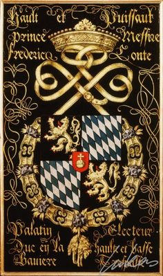Armorial plates from the Order of the Golden Fleece   Frederick II, Elector Palatine
