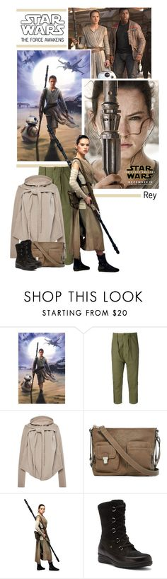 """Star Wars: The Force Awakens - Rey"" by onemonday ❤ liked on Polyvore featuring NLST, DRKSHDW, Rosetti, Finn Comfort, movies, starwars, rey, theforceawakens and starwarstheforceawakens"