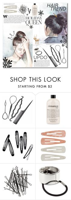 """""""Holiday ~updo~"""" by dolly-valkyrie ❤ liked on Polyvore featuring beauty, Emma Watson, philosophy, H&M, Forever 21 and holidayupdo"""