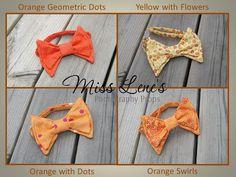 Baby Boy Bow Tie in Orange, Classic Bowtie Bow Tie,  Newborn to Toddler Photo Prop