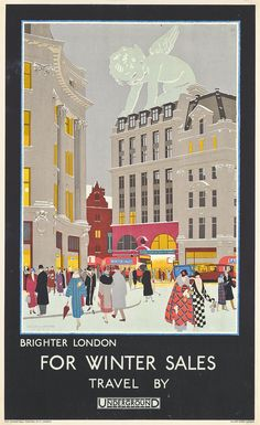 Harold Sandys Williamson (1892-1978)  BRIGHTER LONDON FOR WINTER SALES