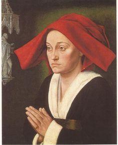 """Maitre de Saint-Jean-de-Luze, Ecole bourguignonne, vers 1470. Portrait dit """"de Jeanne de montaigu"""" Huile sur bois 0,615 x 0,493 m, Cliche hugo Maertens."""