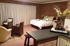 Clarens Retreat - Accommodation in Clarens. Clarens Self Catering Apartment, Flatlet Accommodation, Northern & Eastern Free State, Free State, South Africa Queen Room, Queen Beds, Free State, New Beds, Two Bedroom, Soft Furnishings, Living Room, Interior, Furniture