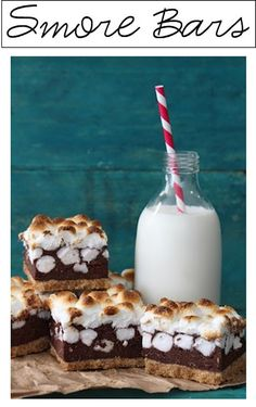 Smore bars! A wonderful, cooled way to eat this camping treat.