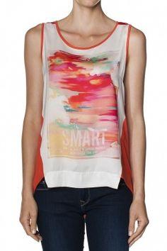 Camisolas, t-shirts, pólos e tops Mulher Top estampado LARANJA TRIBAL
