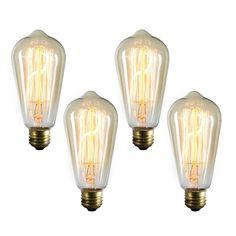 Gallery Medium Elongated Vintage Edison Incandescent Light Bulbs