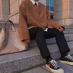 Discover Our Streetwear Chest Bag⬇️ streetwear highsnobiety fashion street styles urban aesthetic outfits men women sneakers hypebeast Mode Outfits, Korean Outfits, Dress Outfits, Fashion Outfits, Fashion Trends, Fashion Ideas, Fashion Hair, Fashion Boots, Style Fashion
