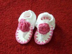 Crochê Arte Terapia: PAP da sandalinha de crochê
