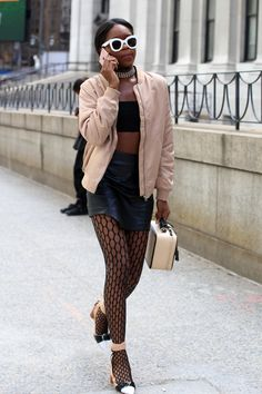 On the street at New York Fashion Week. Photo: Angela Datre/Fashionista