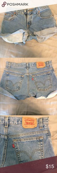 Levi shorts Super cute, bought on posh but they were too tight for me. Looking for a good home! Levi's Shorts Jean Shorts