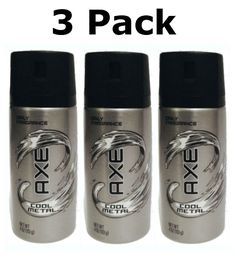 AXE Daily Fragrance Spray, Cool Metal 4 Oz (3 Pack) * See this awesome image  : Travel Perfume and fragrance