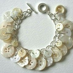 Vintage Mother of Pearl & plastic buttons for bracelet