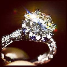 Tacori. Special design with sapphires in the crowning bloom. HT2604RD10 (available by special order only)