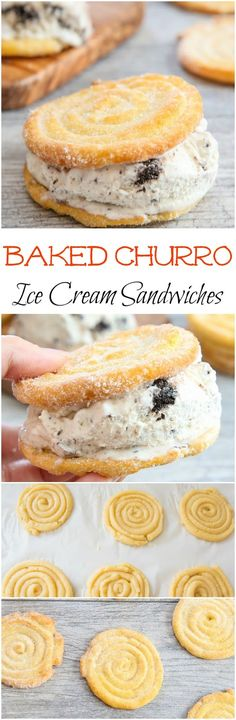 Baked Churro Ice Cream Sandwiches. A magical combination that is easy to make and perfect for summer!