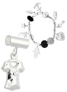 Berloque folheado a prata em forma de blusinha (Pandora inspired). www.joiasfolheadasdiretodafabrica.tk