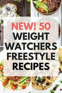 50 Weight Watchers Freestyle Recipes with updated Freestyle SmartPoints #freestyleeffect #weightwatchers #ww #wwfam#smartpoints Weight Watchers Recipes With Smartpoints, Weight Watchers Diet Plan, Recette Weight Watcher, Points Weight Watchers, Weightwatchers Recipes, Weight Watchers Free, Weight Watcher Dinners, Weight Loss Snacks, Weight Watchers Lunches