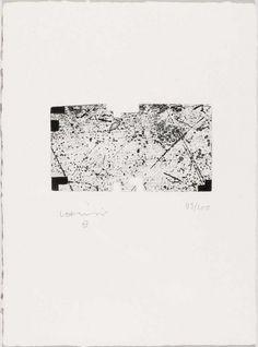Eduardo Chillida (1924-2002), Untitled, 1996. Aquatint. Plate size: 7.8cm H x 14.3cm W. Sheet size: 30cm H x 22cm W. Edition of 100 copies.