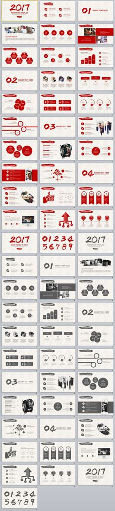 60+ Red Black Annual Report PowerPoint templates 2 IN 1